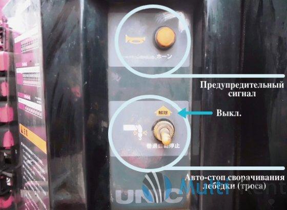 Рычаги на приборной панели КМУ UNIC URV340 серии